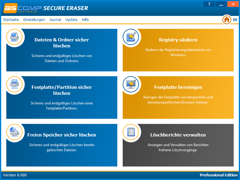Click to view Secure Eraser screenshots